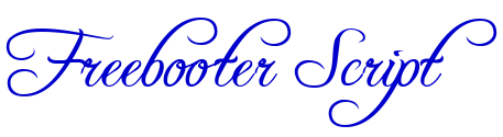 Freebooter Script フォント